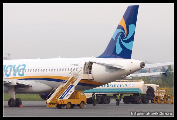 Аэробус А-320 в аэропорту г. Курган.